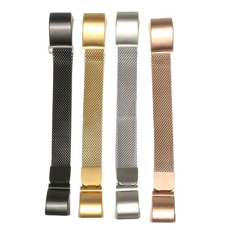 Wysokiej jakości zegarek ze stali nierdzewnej Pasek na nadgarstek Pasek na bransoletę Fitbit Alta Akcesoria do paska Czarny / Złoty / Srebrny