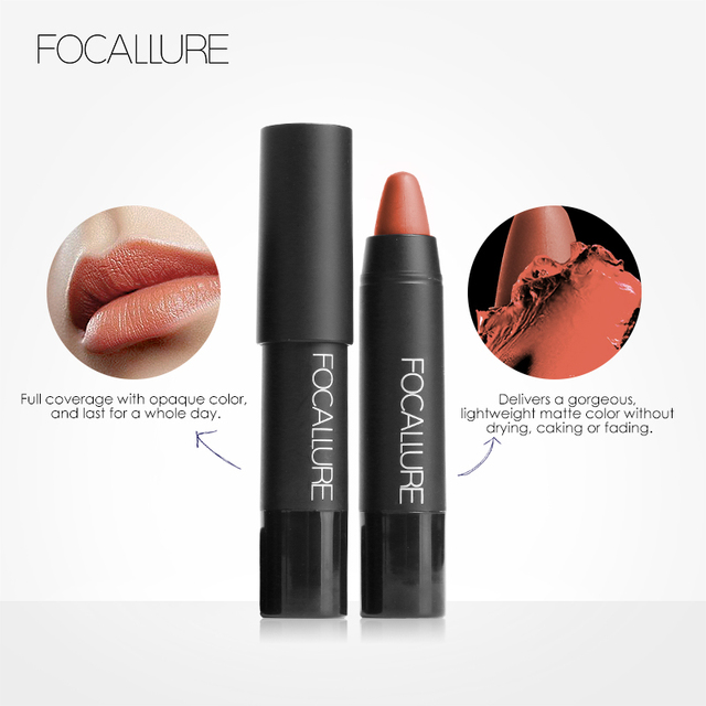 FOCALLURE 19 Colors Matte Lipsticks Waterproof Matte Lipstick Lip Sticks Cosmetic Easy to Wear Matte Batom Makeup Lipstick 2