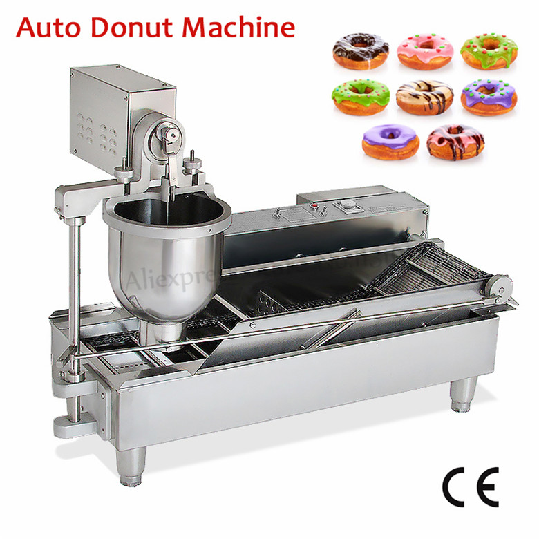 где купить Automatic Donut Fryer Machine Electric Donuts Maker Commercial Doughnut Machine for Bakehouse Restaurant Catering Industries дешево