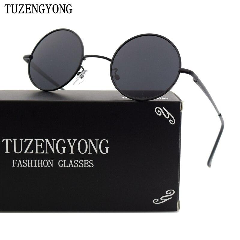 TUZENGYONG Retro Runde Sonnenbrille Marke Unisex Sonnenbrille - Bekleidungszubehör - Foto 2