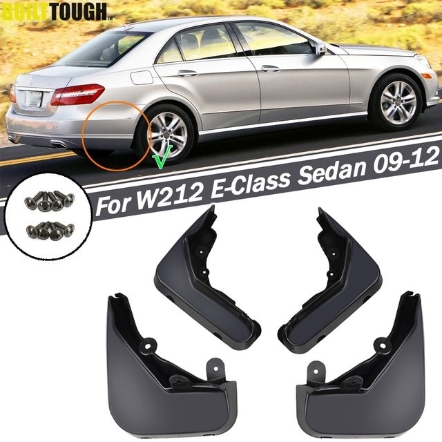 Mud Flaps For Benz E Class W212 E300 E350 E550 E500 E280 E200 2008   2013 Splash Guards Mudguards Front Rear 2009 2010 2011 2012