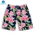 Dark blue flowers surf beach shorts 2016 Hot Mid waist board shorts Summer men swim shorts comfortable M L XL XXL 3XL A3