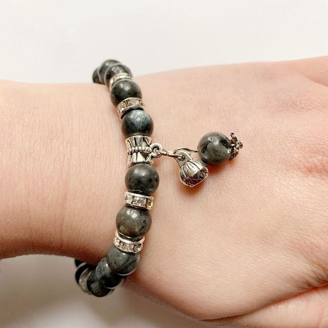 Bracelet Tibetain En Labradorite