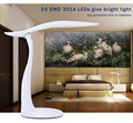 Moda Lámpara de Escritorio Plegable 24 Led Regulable USB Touch Sensor LED lámpara de Mesa de Lectura Lámpara de Luz de La Noche Para El Hogar Oficina Muebles