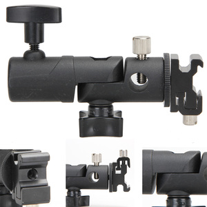 Image 4 - Foto acessórios da câmera giratória flash suporte de sapato suporte guarda chuva estúdio luz giratória suporte adaptador para guarda chuva e tipo