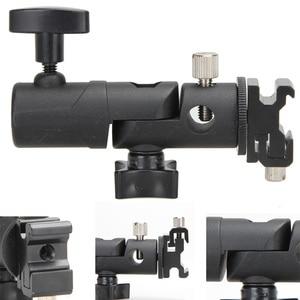 Image 4 - Photo Accessories Camera Swivel Flash Bracket Shoe Umbrella Holder Studio Swivel Light Stand Adapter for Umbrella Bracket E Type