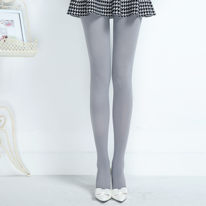 Fits 175CM Spring Summer 80D Striped Tights Women Girls Candy Color Stockings Tall Lady Sexy Nylon Pantyhose Hot Sale