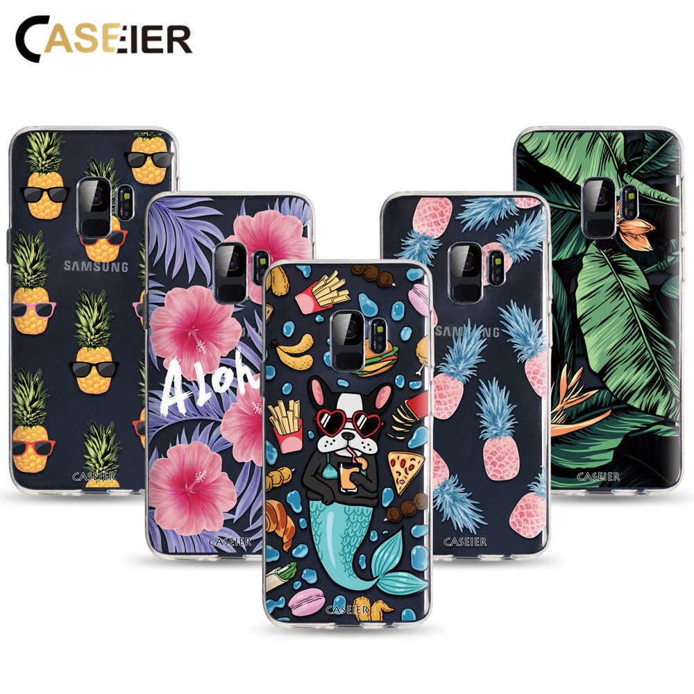 CASEIER Matte Phone Case For  Samsung Galaxy A7 2018 S8 S9 S10 Plus Cases For Samsung J5 J6 J7 2017 Note 8 9 Funda Bag Leaf Capa