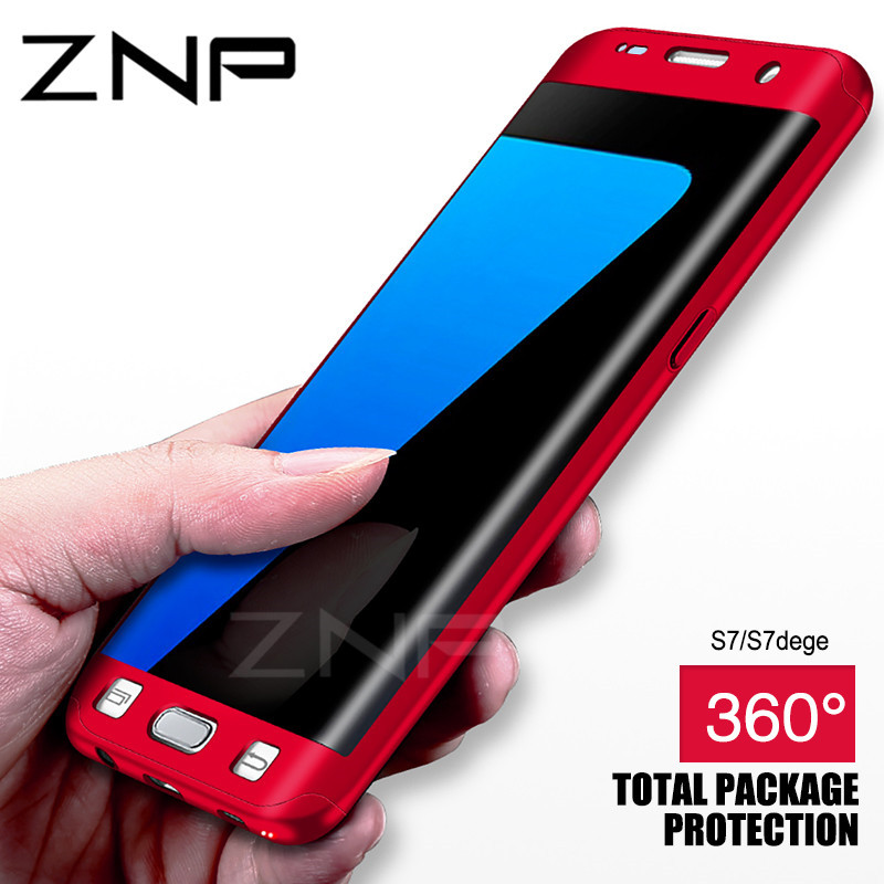 ZNP 360 Degrees Full Body Protective Case For Samsung Galaxy S7 S7 Edge Cover Cases For Samsung Galaxy S8 Plus Note 8 S8 Case