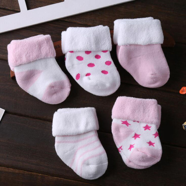 5 Pair/lot new cotton thick baby toddler socks autumn and winter warm baby foot sock 2
