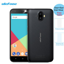 Ulefone S7 Pro 5 Inch 2GB RAM 16GB ROM Android 7.0 Smartphone Quad Core MTK6580 Dual Rear Cameras 13MP 3G Unlocked Cell Phones