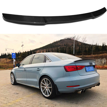 A3 S3 8V Carbon Fiber Rear Trunk Lip Spoiler Wing For Audi A3 S3 8V Sedan 2014-2017 V Style carbon fiber rear trunk wings m4 spoiler for bmw 4 series f36 420i 428i 435i gran coupe 4 door 2013 gloss black spoiler wing