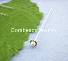 DoreenBeads 30PCs Tibetan Silver 3D Hat Head Pin 55mm (B00404), yiwu