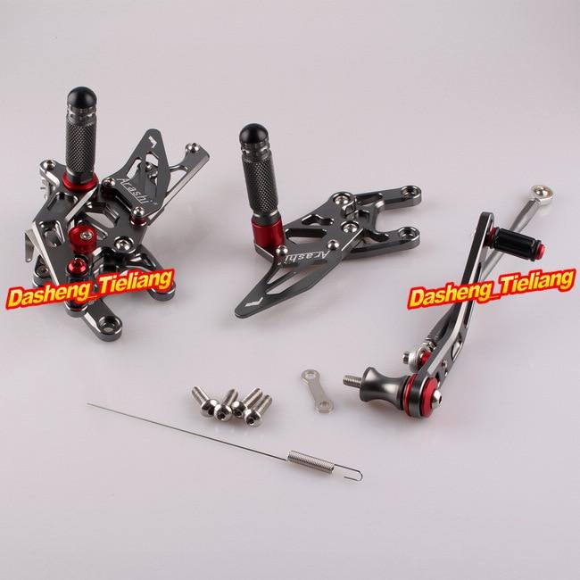 CNC Motorcycle Rearset Rear Set Footpegs For Honda CBR1000RR  CBR 1000 RR 2009 2010 2011 2012 2013 2014 2015 2016 Grey Aluminum