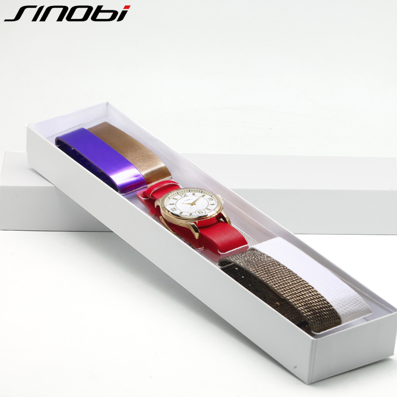 SINOBI Multicolor Women Leather Watches Set Luxury Quartz Watch Ladies Wrist Watch Female Clock 2018 Relogio Feminino #5169 цена 2017