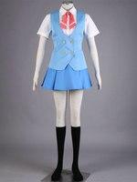 אנימה acchi kocchi miniwa tsumiki לבן בית הספר הכחול שמלה אחידה cosplay תלבושות