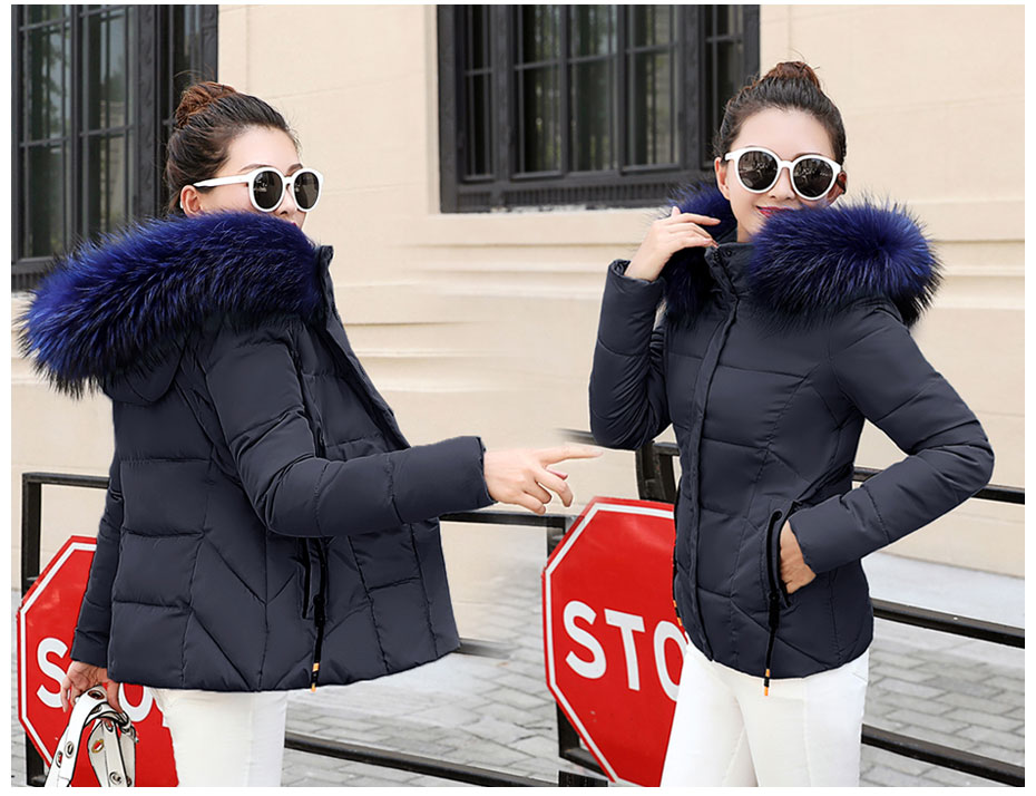HTB1Xt4aFQyWBuNjy0Fpq6yssXXa5 2019 Winter Jacket women Plus Size Womens Parkas Thicken Outerwear solid hooded Coats Short Female Slim Cotton padded basic tops