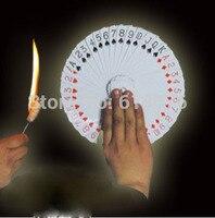 Flaming torch için kartı fanı sihirli, sahne sihirli, yanılsamalar, Aksesuarlar