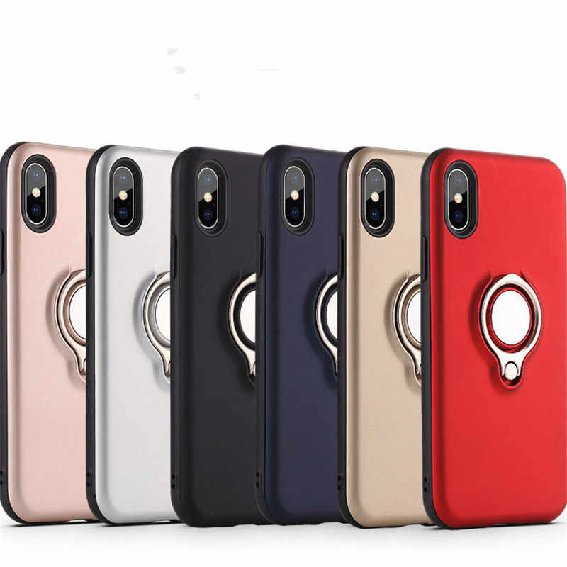Magnetic Metal Ring Case For iPhone 5 5S SE 6 6S 7 8 Plus Car Holder Ring Soft Shockproof Case For iPhone X XR XS MAX Cover Caqa