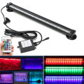 IP68 RGB LED Ligth Bulb Tube 12/26/32/46cm Remote Control Fish Tank Aquarium Lamp 18 SMD Air Bubble Light Strip Submersible