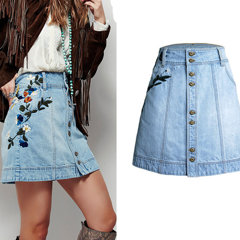 Popular Button Front Denim Skirt-Buy Cheap Button Front Denim ...