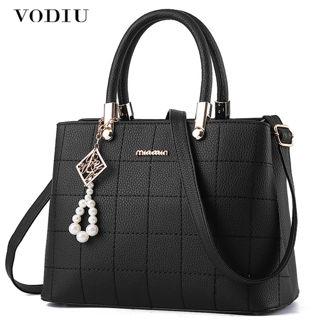 Women Bag Women Leather Handbag Shoulder Bag Female Crossbody Bags For Women Pendant Sling Plaid Tote Large High Quality Fashion