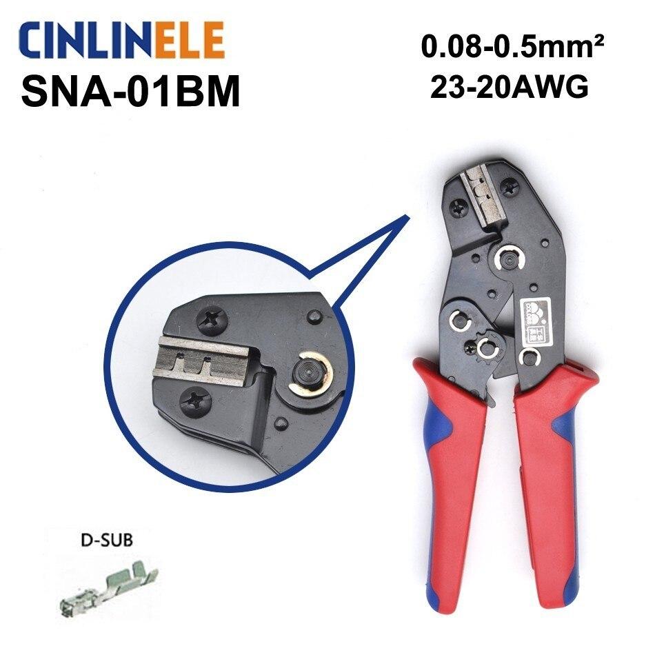 Freies Verschiffen Sna-1bm 0,25-0,5mm 23-20awg Mini Art Selbst Einstellbare Crimpen Hand Zangen Elektrische Draht Terminals Crimper Werkzeuge HöChste Bequemlichkeit Werkzeuge Zangen