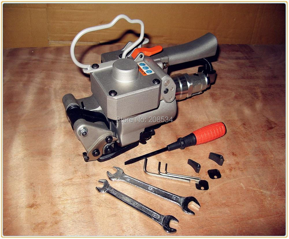 Outil de cerclage pneumatique A19 outil de cerclage tenu dans la main 0.5-0.7Mpa pression d'air PP & Pet Kit de cerclage pour PP PET 1/2 pouces à 3/4 pouces