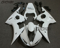 Unpainted Raw White ABS Injection Bodywork Fairing Kit For YAMAHA YZF R6 2005 05 +4 Gift