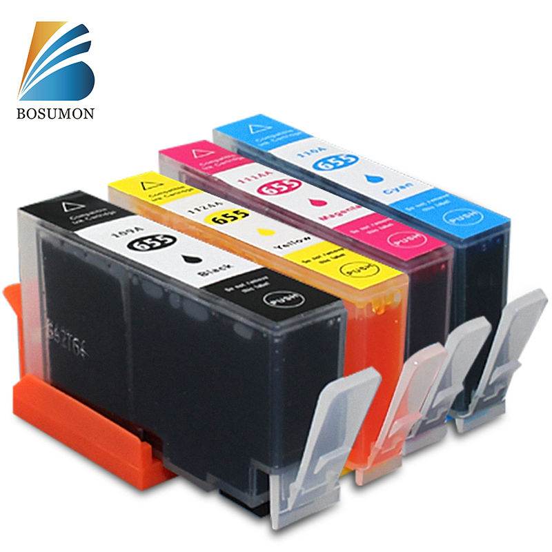 все цены на Bosumon 655 Ink Cartridge Compatible for HP 655 Ink cartridge with chip For hp Deskjet 3525 4615 4625 5525 6520 6525 6625 BK+CMY онлайн