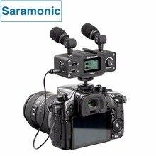 Saramonic CaMixer Microfone Kit com Dupla Stereo Microfones de Condensador, Mixer Digital & XLR/Mini-Entrada XLR com + 48 V Phantom Power Pré