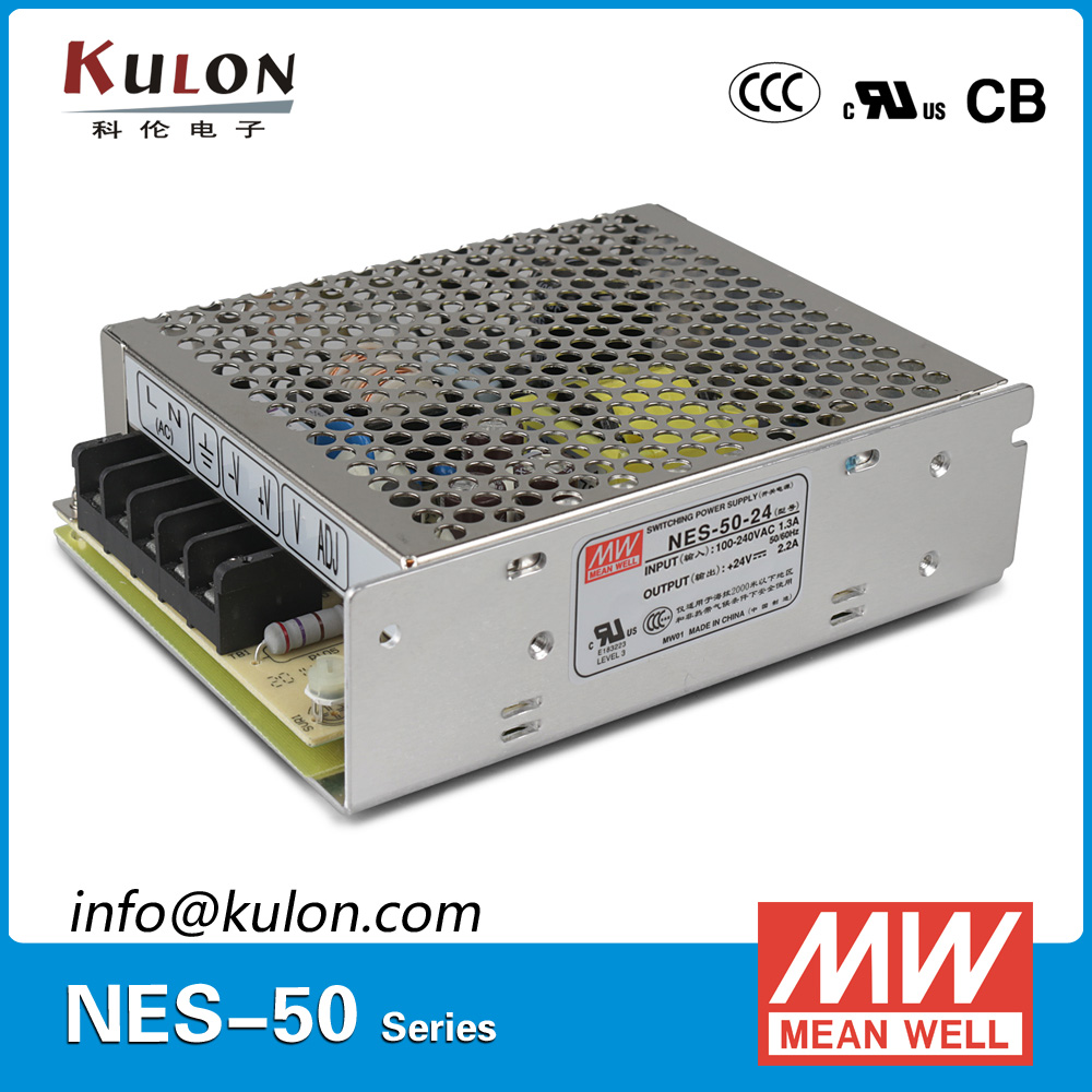 Original Meanwell NES-50-24 AC to DC Single Output 52W 24V 2.2A Mean well Power Supply Unit NES-50 meanwell 12v 350w ul certificated nes series switching power supply 85 264v ac to 12v dc