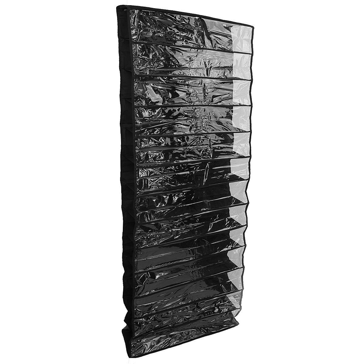 SZS Hot 26 Pairs Over Door Hanging Stand Shoe Rack Shelf Storage Organiser Pocket Holder black  цена и фото