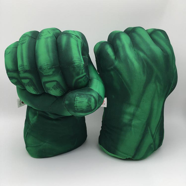 Plush The Incredible Hulk Luvas Superhero Figura Hulk Verde Cosplay Brinquedo Dos Namorados Natal Luva Mittens Crianças Luvas de Pelica