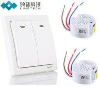 Linptech K2 Wireless Remote Control Light Switch Kit No Need Battery Smart Home Digital Remote Light