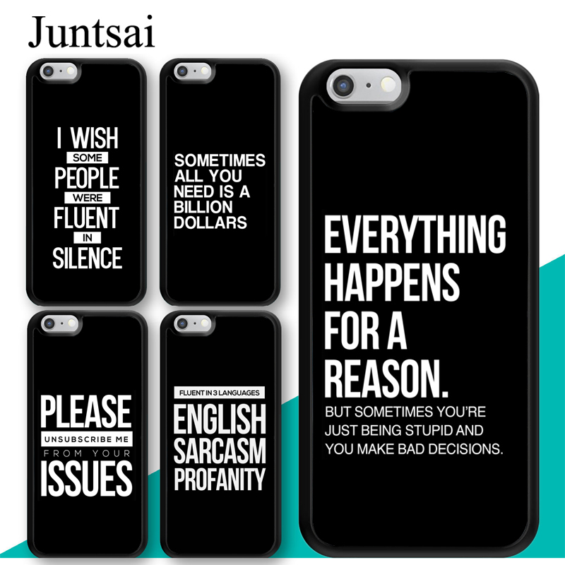 new product 824a7 b8c0f US $2.95 5% OFF|Juntsai SASSY QUOTES TPU Phone Case For Apple iPhone XR XS  MAX X 6S 6 7 8 Plus 10 5 5S SE Cover Rubber Coque Shell-in Fitted Cases ...
