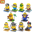 Minions LOZ Despicable Me Diamond Block Popular Cartoon Movie Building Blocks Model Toy Action Figures Mini Assemble Bricks Toys