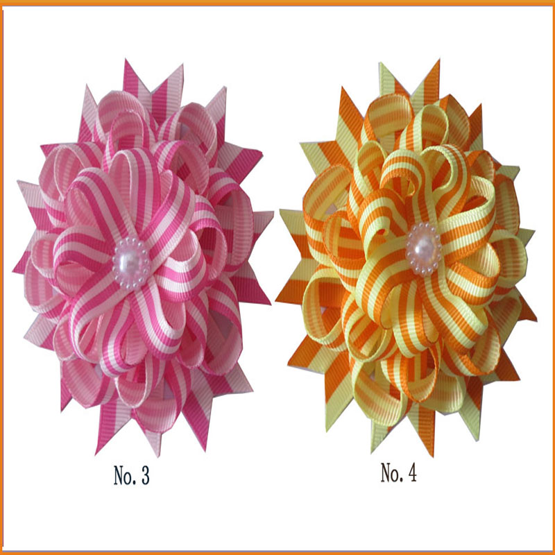 """50 BLESSING Good Girl Boutique 4.5/"""" New Rainbow Stylish Hair Bow Clip"""