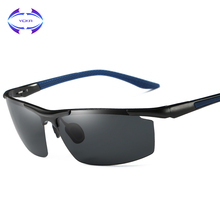 VCKA Aluminum Magnesium Men's Sunglasses Polarized Coating Mirror Sun Glasses oculos Male Eyewear Accessories For Men Goggle