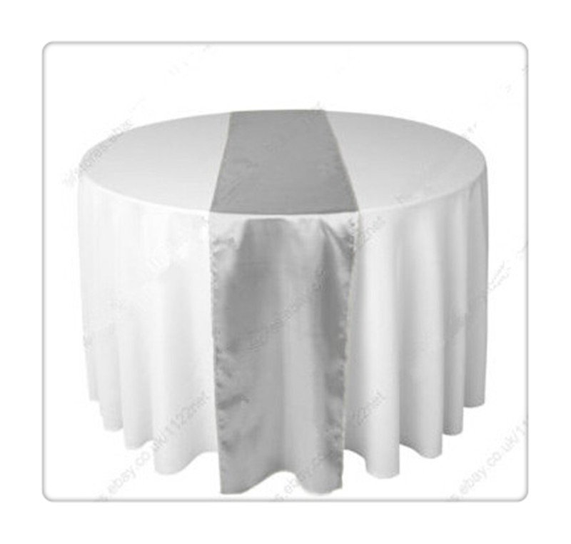 Great 36 Piece Silver Table Runners For Wedding FREE SHIPPING Silver Table Runners(China  (Mainland