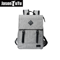 JASON TUTU high quality canvas backpack men laptop backpack gray school backpack free shipping B293