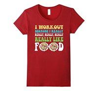 Yo Trabajo Porque Me Gustan mucho Los Alimentos Camiseta Divertida del Entrenamiento mujeres Tops Camisetas 2017 Del Verano Del Estilo Camisa de Manga Camiseta de Las Mujeres