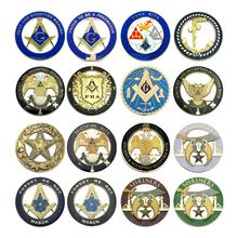 Masonc Car Emblems 3 Free And Accepted Masons Auto Truck Multi Motorcycle Decal Badge Sticker With Red Adhesive
