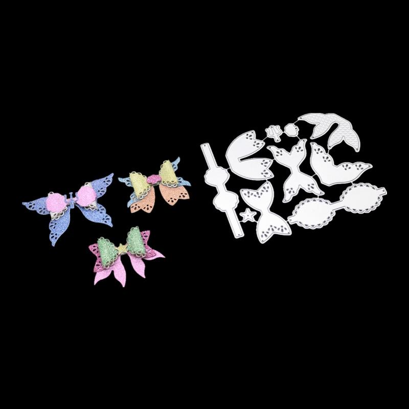3pcs METAL CUTTING DIE cut bow bowknot heart border Scrapbooking paper craft handmade card punch art knife cutter glita creatif in Cutting Dies from Home Garden