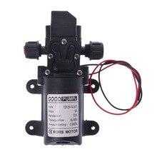 6l/min dc 12 v 70 w 130psi 물 고압 펌프 다이어프램 자체 프라이밍 펌프