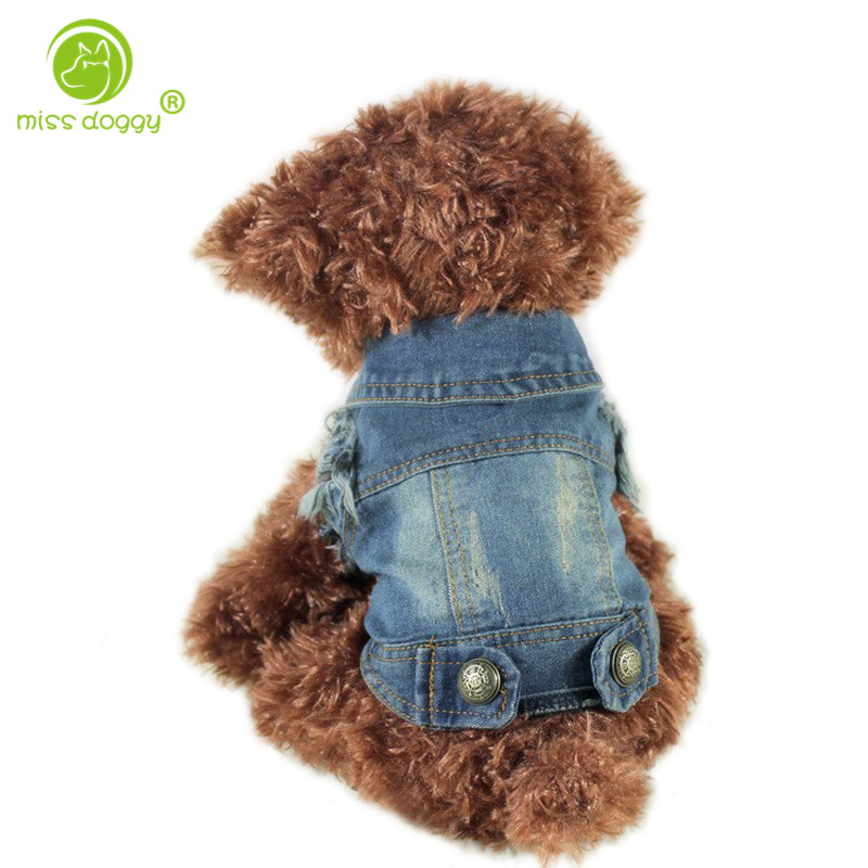 Direct Selling Retro Pet Kleidung Denim Dog Jacket Personalisierte Weste Für Kleine Mittelgroße Hunde Chihuahua XS-XXL All Season