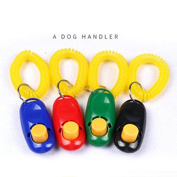 """Hot urządzenie do szkolenia psów dla zwierząt domowych proszę kliknąć na przycisk """" Clicker dźwięk trener uniwersalny dla zwierząt domowych pies kot dźwięk zachęty dla psa pasek na nadgarstek szkolenia tanie i dobre opinie Szkolenia Clickers Dog Button Clicker Sound Trainer Z tworzywa sztucznego PESIFUTE"""