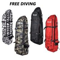 Carbon Fiber Fin Pack for Free Diving Hunting Portable Frog Shoe Pack Deep Diving Equipment Shoulder Backpack