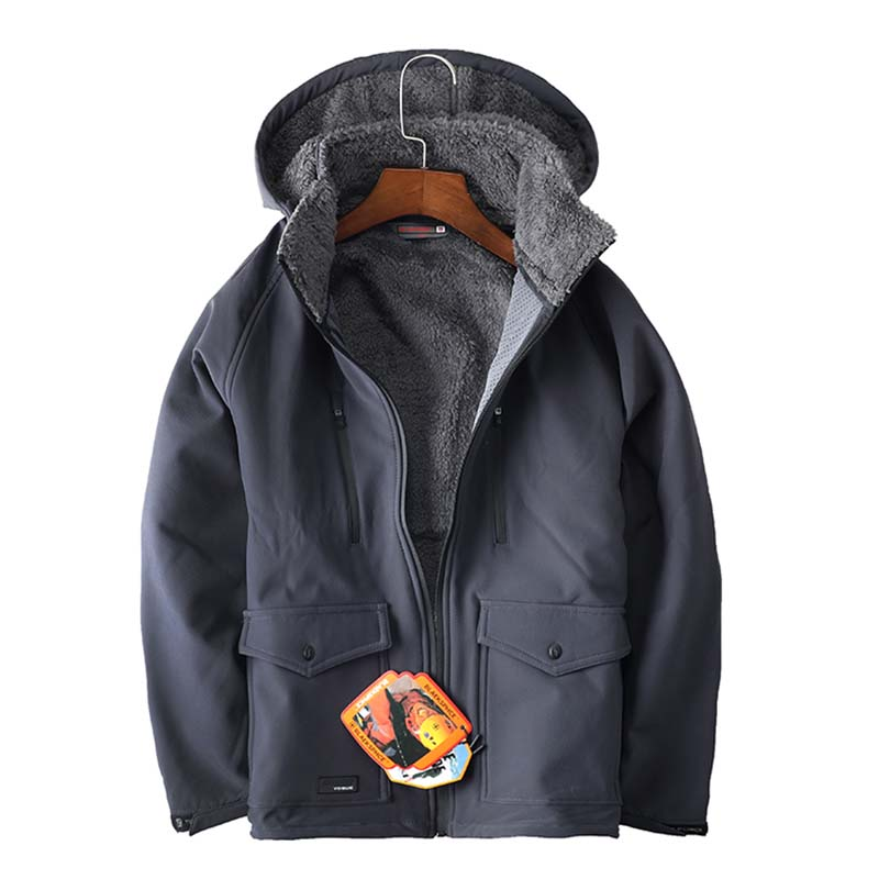 Outdoor Male Soft shell Thermal Hiking Jacket Winter Keep Warm Waterproof Windproof Breathable Jacket Camping Skiing