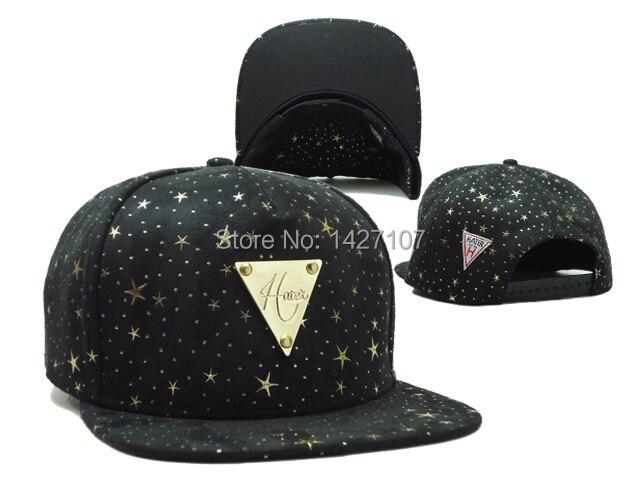 Brand New Hip Hop Adjustable Leather Galaxy Hater Snapback Caps ... 5edf64776653